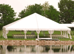 White German Tent