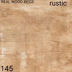Gloss Ceramic Real Wood Beige Rustic Floor Tiles, Size: 4x4 Inch