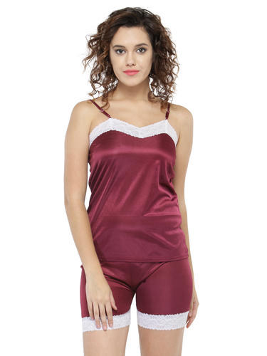 Lace and Satin Camisole   Shorts Set at Rs 141  set  d42f2f0a54f9