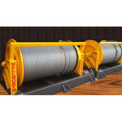 Wellworth Three Phase Double Drum Chimney Erection Winch, Capacity: 1 Ton