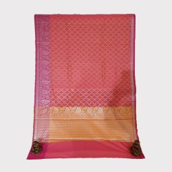 Pink Jari Chanderi Silk Saree