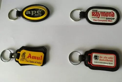Round ABS Printing Meena Keychains for Promotional