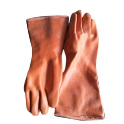 Brown Laxmi Rubber Hand Gloves