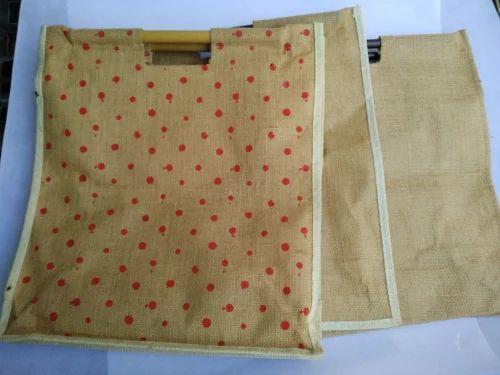 c812781e2e9c Natural/White/Colours Plain Bamboo Handle Jute Bag, Rs 75 /piece ...