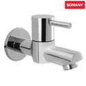 Stainless Steel Somany Florence Bib Cock With Wall Flange