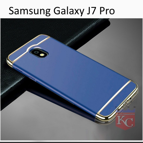 buy online c5deb f5bef 3 In 1 Ultra Thin Hard Coated Matte Surface Back Cover For Galaxy J7 Pro  Blue