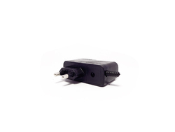 SPE Black 2 Pin Mobile Charging Adapter Enclosure, 12 V, Size: 50 Mm