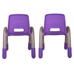 Purple Pair Volver Engineering Plastic Kids Chair (VJ-0238)