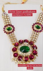 stone neckalce - Three liner Padakkam