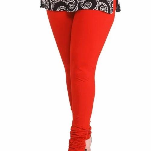 2bf943fe34138c Churidar Plain Red Color Legging, Size: Medium, Rs 165 /piece | ID ...