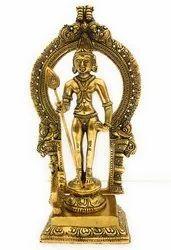 Bharat Handicrafts Gold Plated Lord Kartikeya Statue