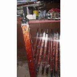 Square Vertical Acrylic Steel Railing Pillar