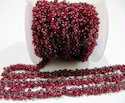 Genuine Ruby Dangling Beaded Chain