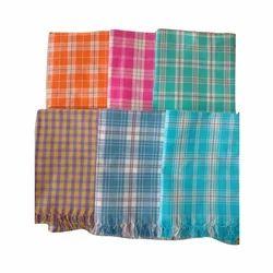 Multicolor Cotton Checked Bath Towel