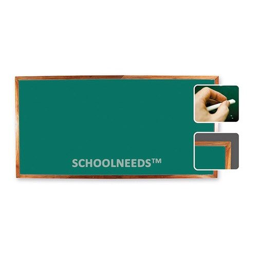Green Ceramic Chalk Writing Teak Wood Frame