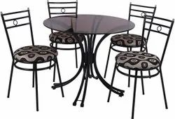 Wrought Iron Round Dining Table Set
