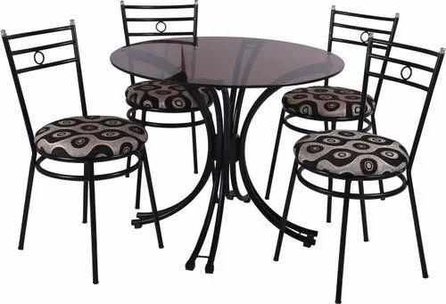 Black Wrought Iron Round Dining Table Set For H Rs 7500 Set Jain Furniture Id 22252980648