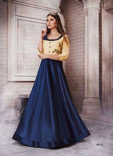Saree Exotica Net And Silksantoon Meraki Ethnic Ready Made Gown Rs