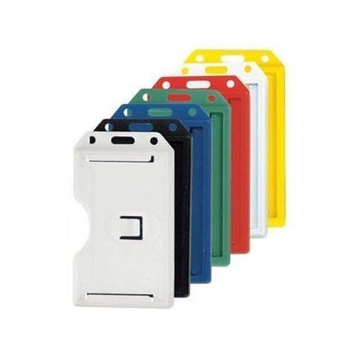 Plain Plastic Office Ideny Card Holder Size 90x65x4 Mm