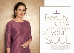 Claire -Arihant Ready Made Pure Viscose Two Tone Silk Fancy Kurtis