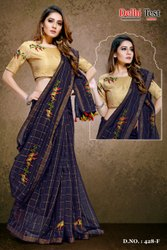 Fancy Saree With Designer Embroidery Blouse