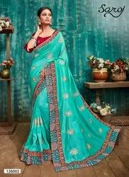 Designer Fancy Vichitra Silk Saree