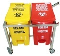 WASTE SEGREGATION TROLLEY 32 LTR TWO BIN