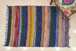 Indian Chindi Durrie Handmade Rugs Carpets Hand Loom Floor Carpets Vintage Rag Rug