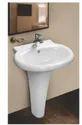 Mozio Italian Ceramic Blossom Pedestal Basin, For Home, Model Name/number: B4895