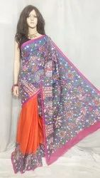 Cotton Screen print saree