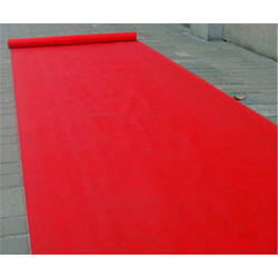 Red Non Woven Plain Carpets