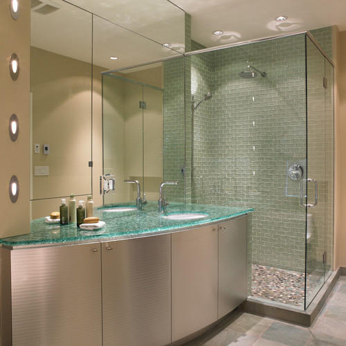 Bathroom Glass Cabinet