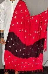 Ladies Cotton Printed Bandhni Dupatta