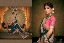Imperial Banarasi Silk Embroidered Party Wear Saree