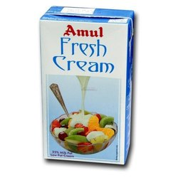 Amul Fresh Cream, Packaging Size: 200 Ml, 1 L, Packaging Type: Pouch