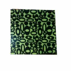 Green & Black Garment Flock Fabric, Use: Garments