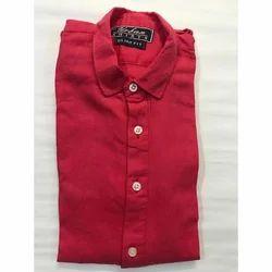 Cotton Collar Neck Checks Plain Shirt