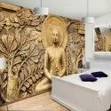 3D Golden Buddha Wallpaper