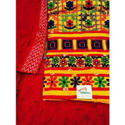 Kachhi Work Suits In Satin Cotton