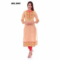 Cotton Straight Formal Ladies Kurti