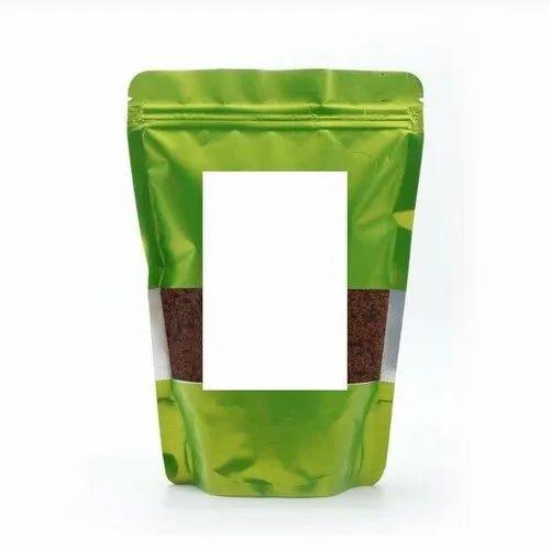Multi Layer Matt Green Color Standing Pouches