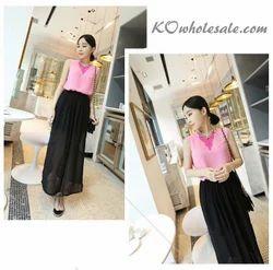 Black Chiffon Short Long Fairy Skirt