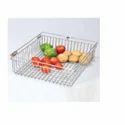 Metal Silver Fruit And Vegetable Basket