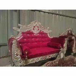 Red, Golden Wedding Long Sofa