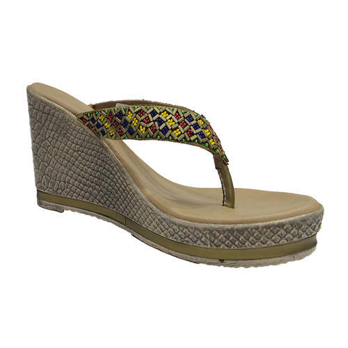 6a0f59299f3 Heels Light Brown Colourful Wedges