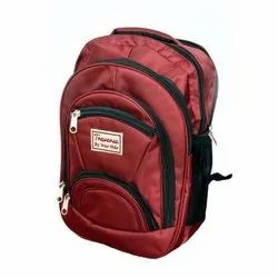 Red Nylon Promotional School Backpack, Number Of Compartments: 6, Capacity: 10kg