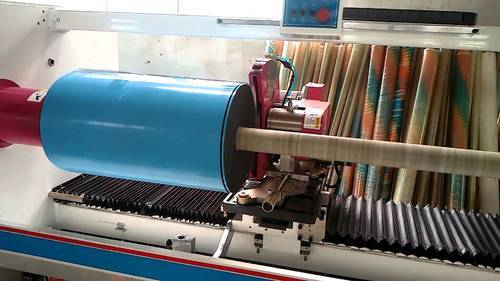 Shaft Slicer Machine - Masking Tape Rewinder Machine Manufacturer