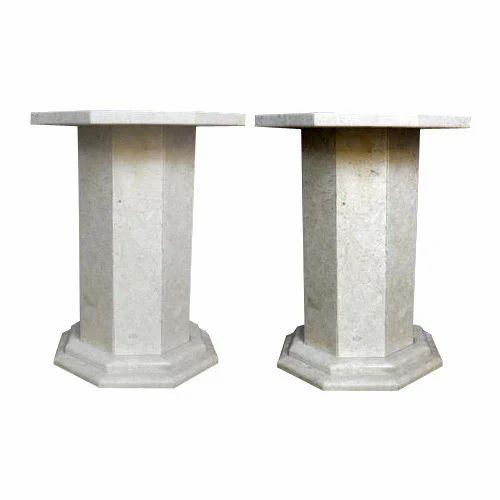 Beage Cream Marble Table Base