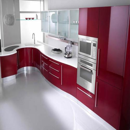 Stylish Acrylic Modular Kitchen