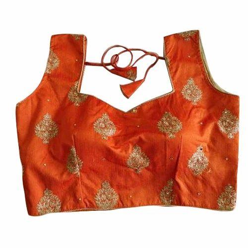 1ab9397389e337 Silk Sleeveless Blouse Design